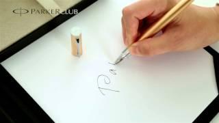 S0959080 Женская шариковая ручка Parker (Паркер) 5th Ingenuity Slim Pink Gold PVD CT(Корпус данной ручки украшен элегантным классическим мотивом и логотипом Parker, а также узором из вертикальны..., 2014-01-09T17:54:24.000Z)