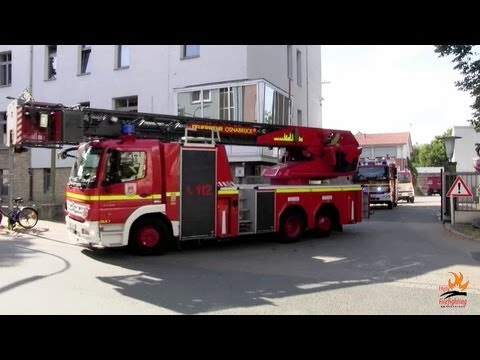 8 fire trucks leaving station at once