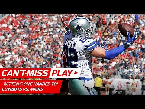 Jason Witten Makes this One-Handed TD Grab Look Easy!   Can't-Miss Play   NFL Wk 7 Highlights