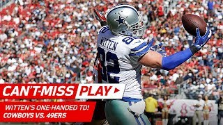 Jason Witten Makes this One-Handed TD Grab Look Easy!   Can