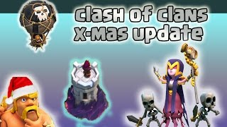 Clash of clans christmas update 2016 | coc x-mas tree 2016 (Winter update)