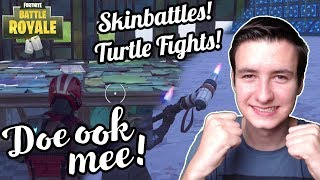 SKINBATTLES + TURTLE FIGHTS WITH VIEWERS!! -Fortnite Battle Royale #274 (English live)