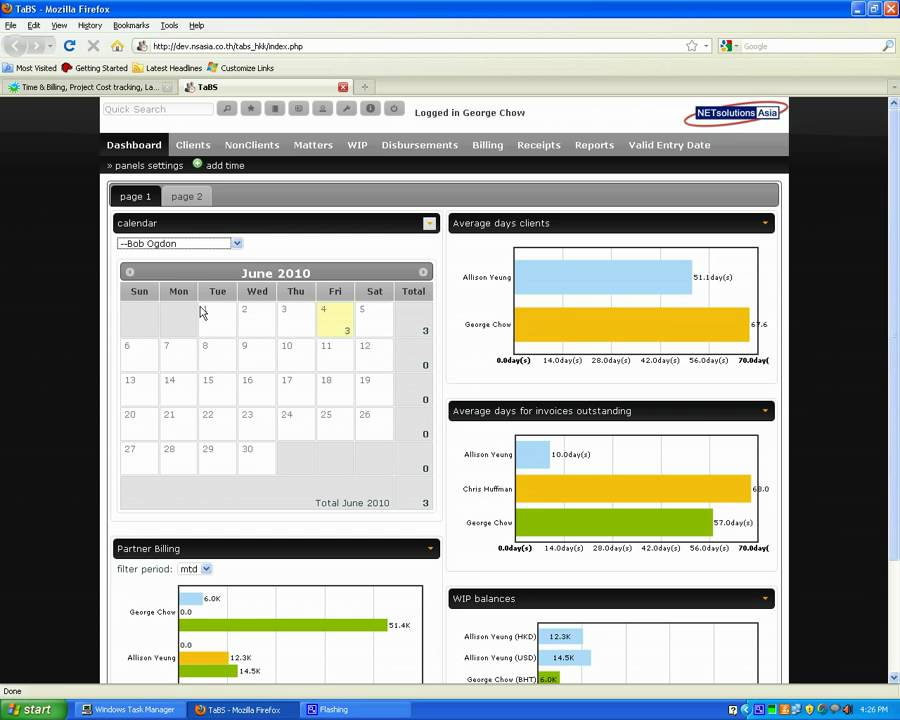 Tabs Time And Billing System For Law And Accounting Firms