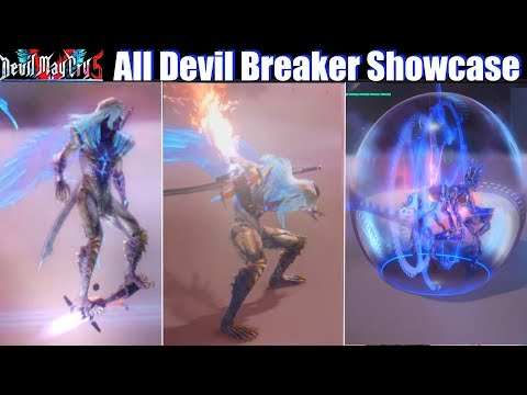 DMC 5 All Devil Breaker Showcase (Nero Arm Weapons) - Devil May Cry 5 2019