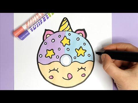 Kawaii Einhorn Donut Zeichnen - MEGA EINFACH DIY - ZEICHNEN MALEN