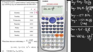 Product Moment Correlation Coefficient 2)   Coding   PMCC   Past paper exam question