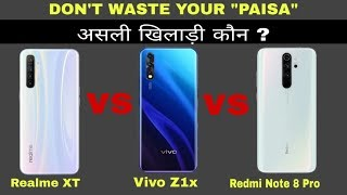 Realme XT vs Vivo Z1x vs Redmi Note 8 Pro - Don't Waste Your Money