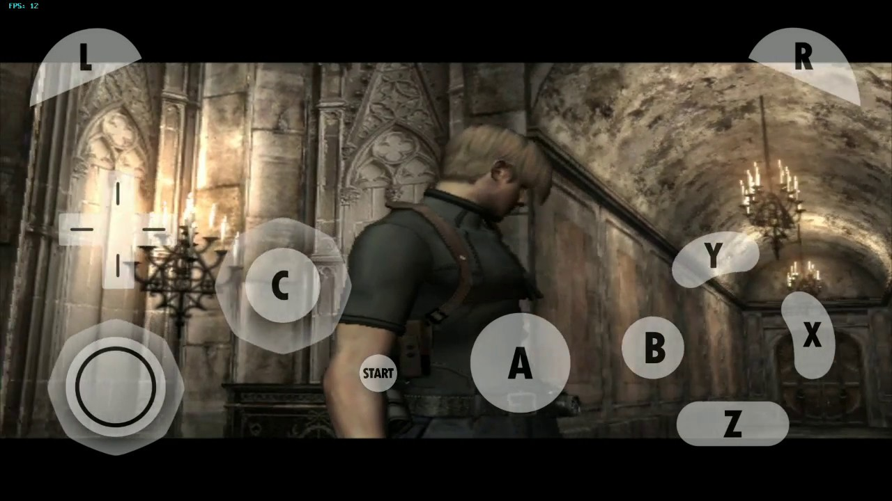 Dolphin Emulator (GameCube) Resident evil 4 (USA) Disc 1 - Android / Test  On Redmi Note 3