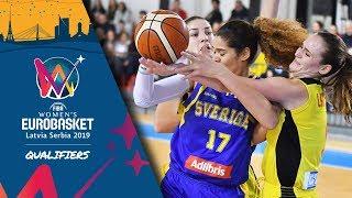 MKD v Sweden - Full Game - FIBA Women's EuroBasket 2019 - Qualifiers 2019