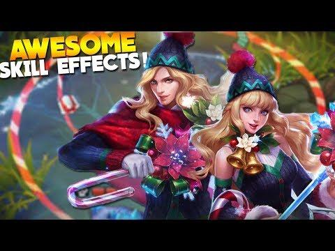 NEW Christmas Skins! Lancelot & Odette Gameplay Mobile Legends
