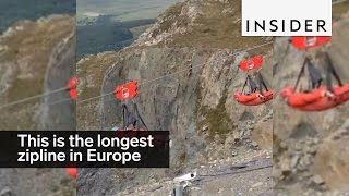 This is the longest and fastest zipline in Europe