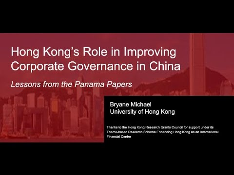Hong Kong's Role in Improving China's Corporate Governance: Lessons from the Panama Papers