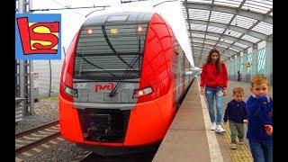 СКОРОСТНОЙ ПОЕЗД поездка на Ласточке первые впечатления Наземное метро Москва МЦК железная дорога