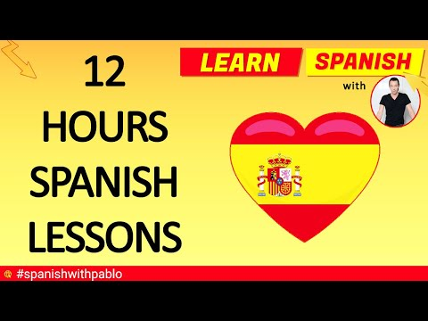 12 HOURS of Spanish Language Tutorials Compilation (remastered)