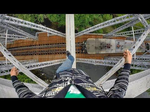 Walking a high beam over Running Train