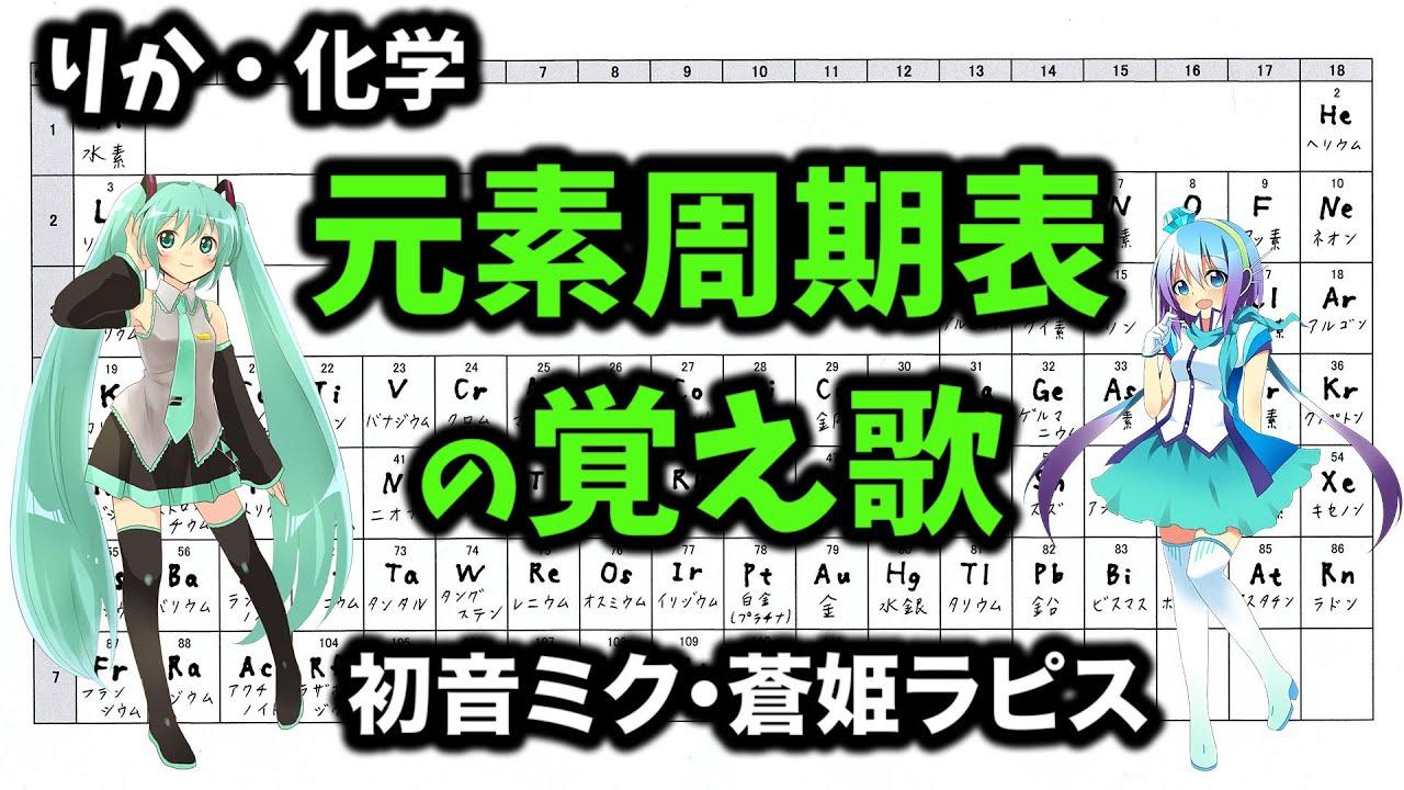 元素周期表の覚え歌 【初音ミク☓蒼姫ラピス☓フィドロサミル 特別企画曲】