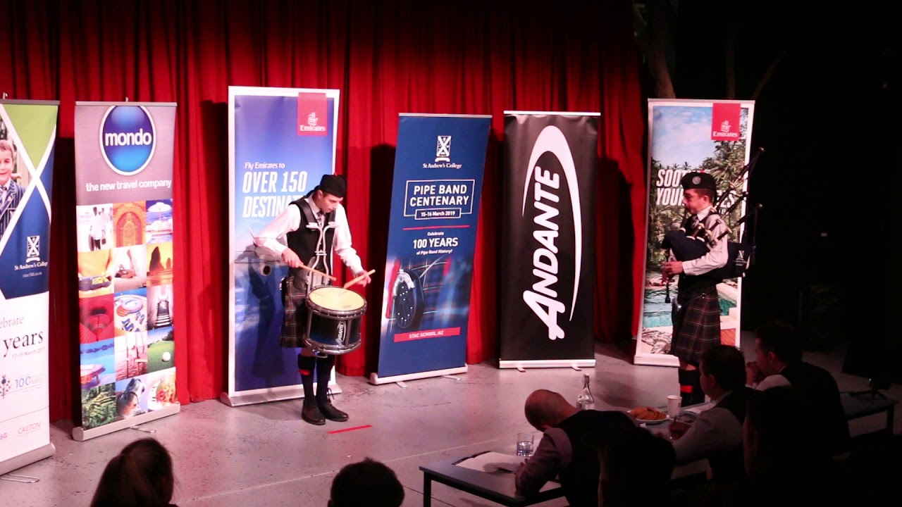 New Zealand Young Drummer of the Year 2019 - Monte Stamm from St Andrews  College Pipe Band