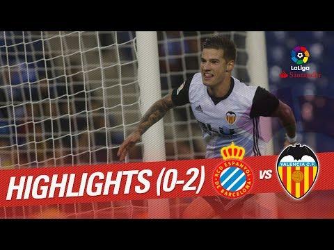 Resumen de RCD Espanyol vs Valencia CF (0-2)
