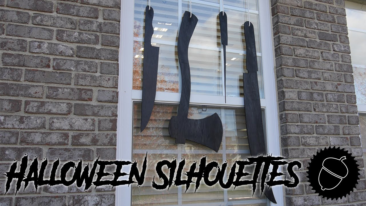 how to make halloween silhouettes for windows