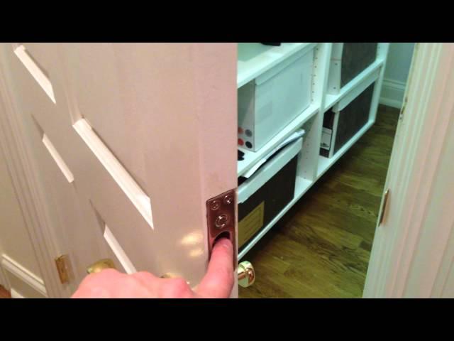 Gun Closet - hidden electric dead bolt