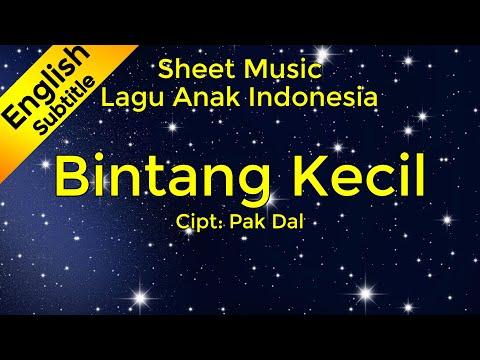 Bintang Kecil - Sheet Music / Partitur / Not Balok (Piano) - Lagu Anak Indonesia