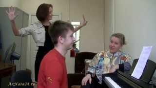 Урок вокала.Упражнение на ритмическую раскрепощённость в заданном метре.