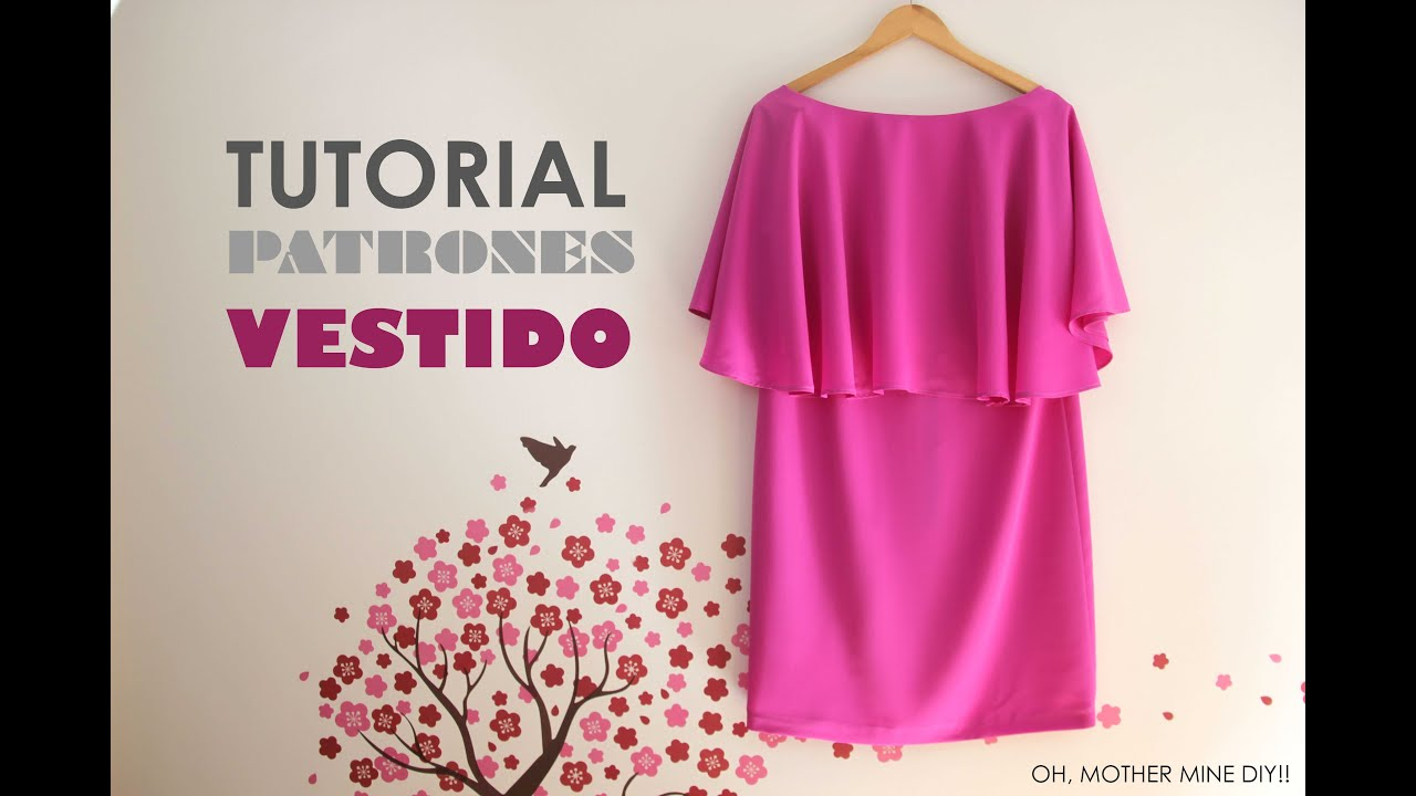 DIY Tutorial y patrones: Vestido de capa para mujer - YouTube