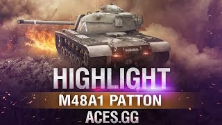 Капитан Америка! M48A1 Patton в World of Tanks!