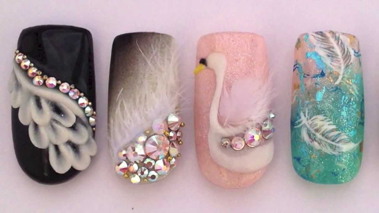 Swan Inspired Nails Youtube