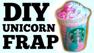 DIY UNICORN Frappuccino
