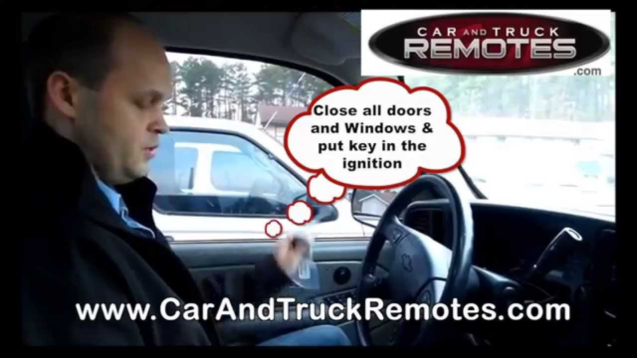 Chevy Avalanche Replacement Remote Programming 2002 2006 Youtube Viper 591xv Can39t Program