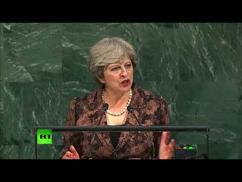 Theresa May urges world leaders to 'tackle the terrorists' use of the Internet'