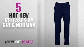 Hot New Greg Norman Women Clothing [2018]: Greg Norman GN WMNS EASY PLAY STRETCH PANTS- NAVY- 14