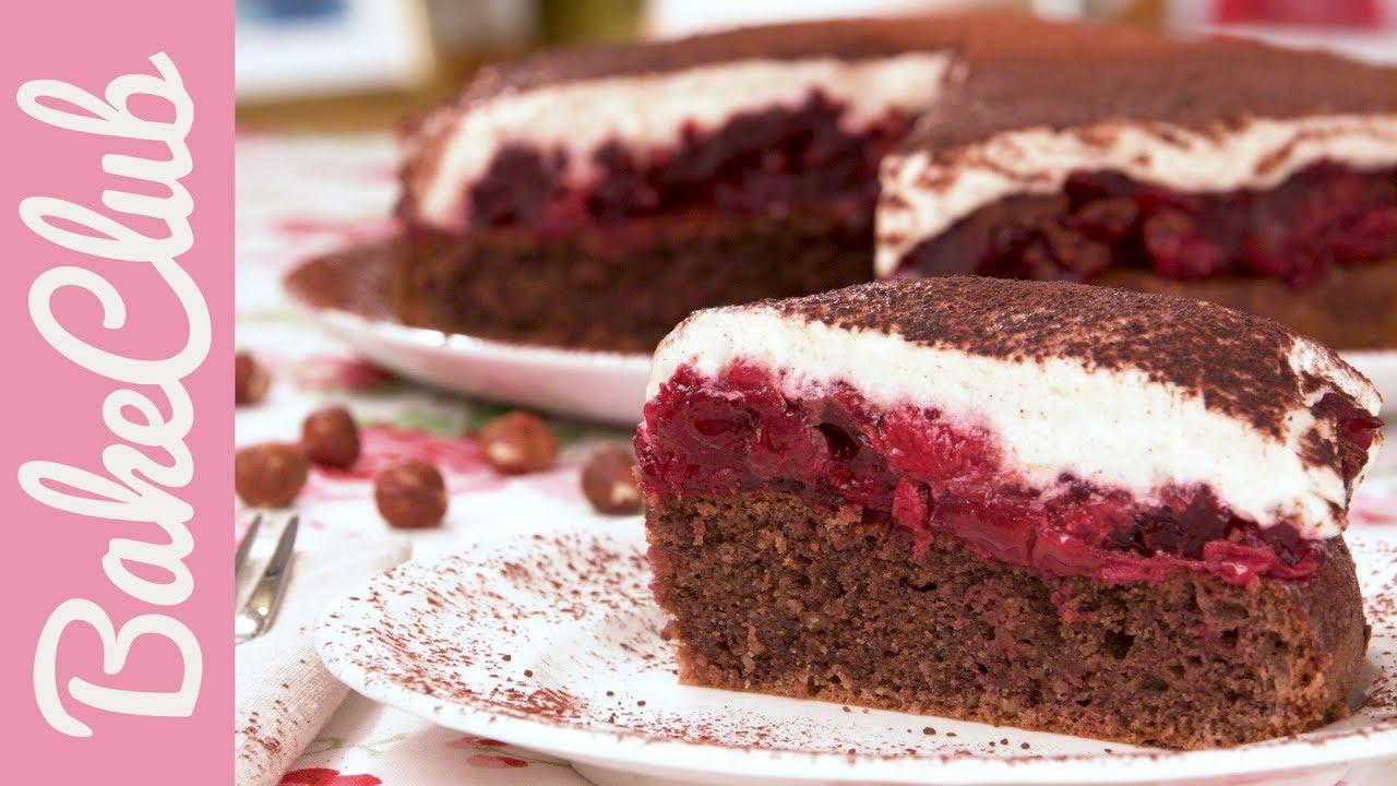 Haselnuss Kirsch Kuchen Glutenfrei Bakeclub Youtube