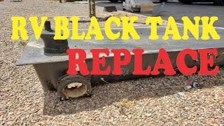 How to Replace a RV Black Tank....WARNING: IT'S GROSS!