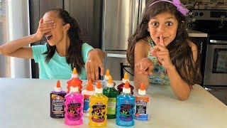 3 COLORS OF GLUE SLIME CHALLENGE! New colors