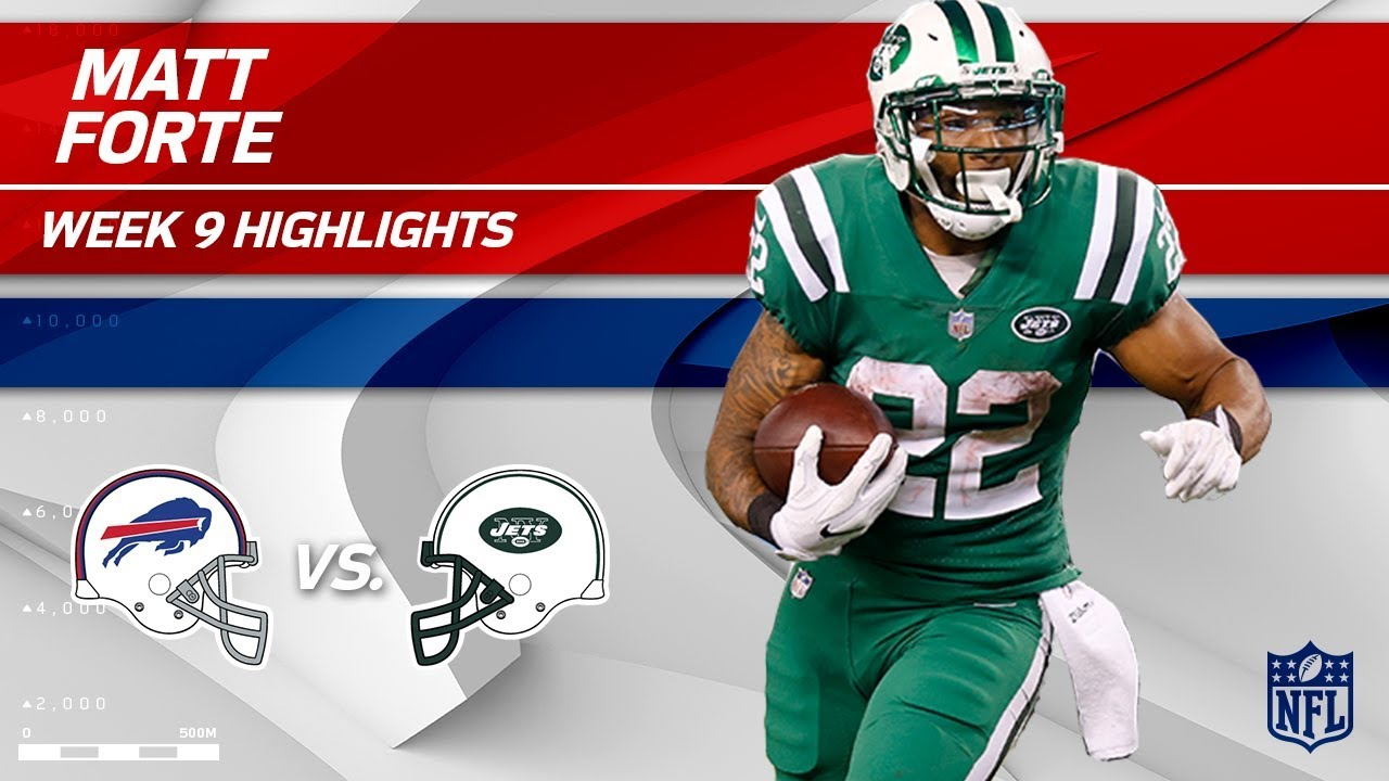 3376f234 Matt Forte's 2 TD Night vs. Buffalo! | Bills vs. Jets | Wk 9 Player  Highlights
