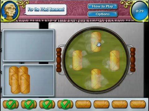 เกมส์ทำอาหารไทย กล้วยหอมทอด - fried banana Cooking Game 튀긴 바나나,揚げバナナ
