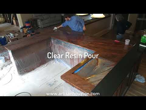 Stunning Epoxy Countertops!!! - Step by Step