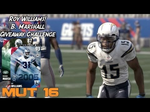 Madden Ultimate 16, Roy Williams! Brandon Marshall Challenge