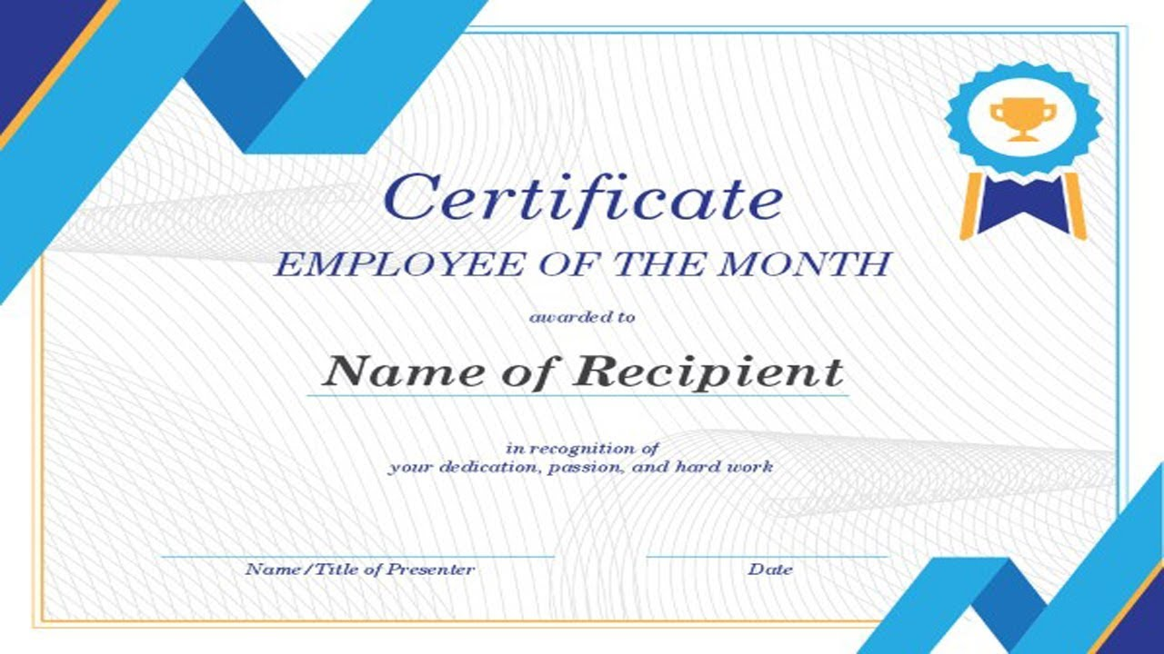 Employee Of The Month Certificates Word, Jobs EcityWorks For Award Certificate Templates Word 2007