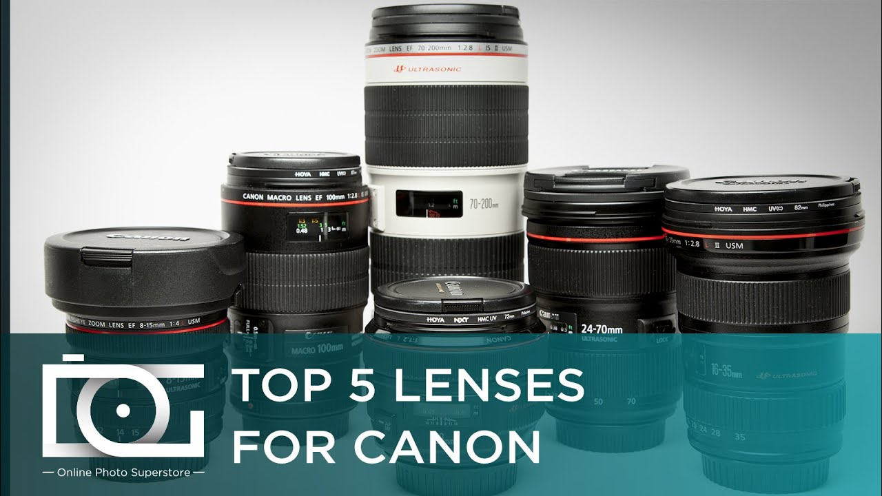 Canon Lenses: Best Canon Camera Lenses | Top 5 Canon Rebel EF / EF-S Lenses  For Beginners