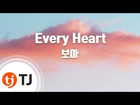 Every Heart_BOA 보아_TJ노래방 (Karaoke/lyrics/romanization/KOREAN)