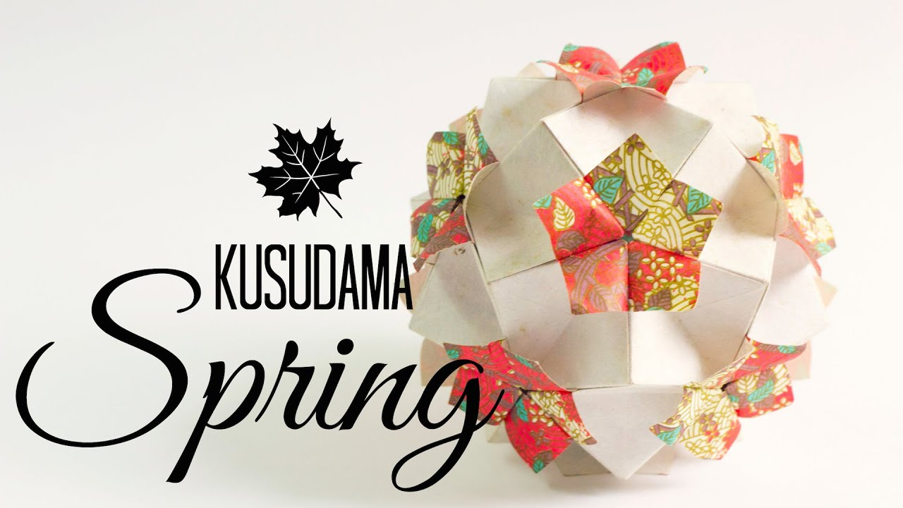 kusudama spring instructions tomoko fuse  [ 1280 x 720 Pixel ]