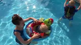Derick and Jill Dillard Family Fun In The Pool June 2018