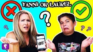 YANNI vs LAUREL! What Do YOU Hear? New Challenge with HobbyKidsTV