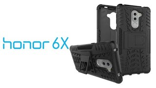 Hybrid Military Grade Armor KickStand Back Cover Case for Huawei Honor 6X Black