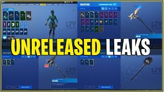 *NEW* ALL CURRENT UNRELEASED SKINS,EMOTES, GLIDERS IN-GAME! (Fortnite)
