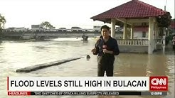 Flood levels still high in Bulacan