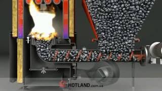 hotland.com.ua -  Как работает пеллетный и гранульный котел с автоподачей